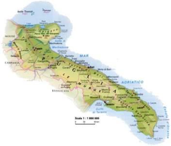Cartina Puglia Fisica E Politica.Cibo Puglia Regione Su Podio Delle Piu Bio D Italia L Impronta L Aquila