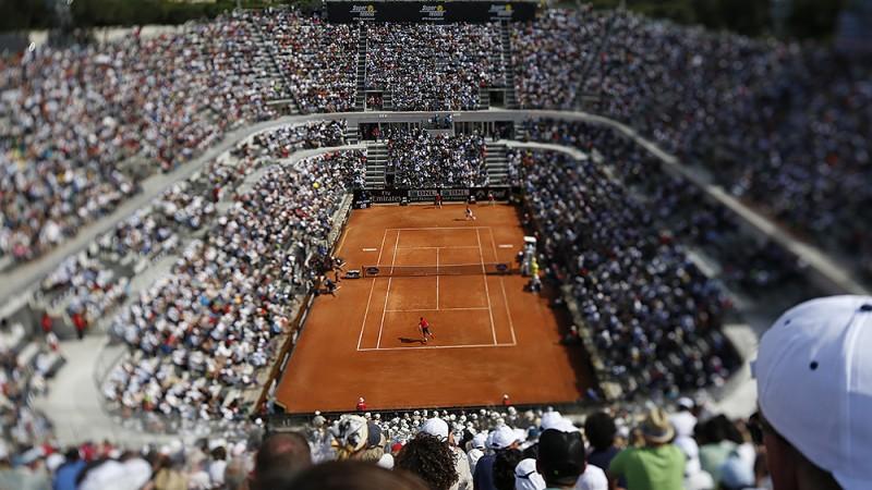 internazionali d italia la magia del grande tennis a roma l 39 impronta l 39 aquila. Black Bedroom Furniture Sets. Home Design Ideas