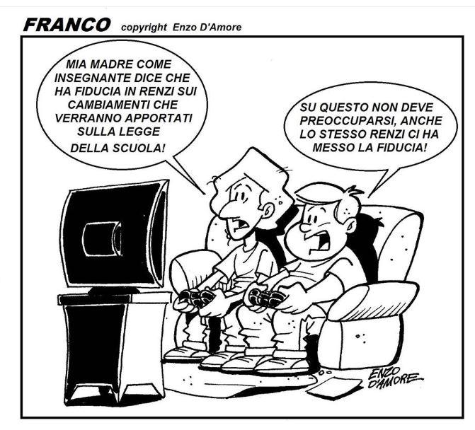 Eccezionale La vignetta di Enzo D'Amore – Riforma della scuola WF04