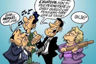 """""""Renzi sfida l'Europa"""", la vignetta satirica di Enzo D'Amore"""