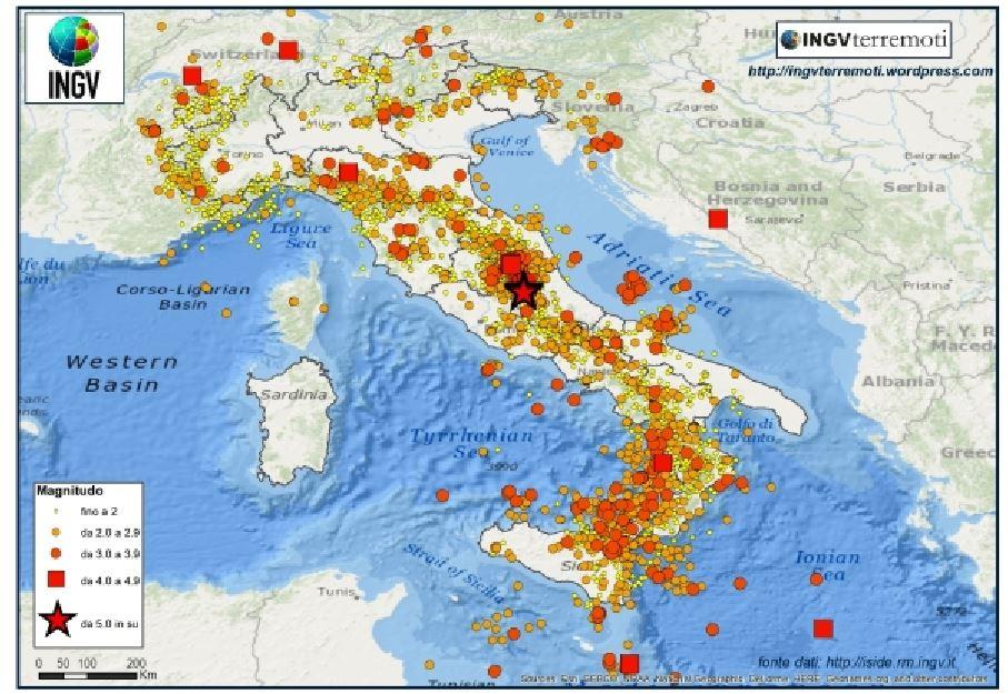 Nel 2017 oltre 44.000 terremoti, uno ogni 12 minuti