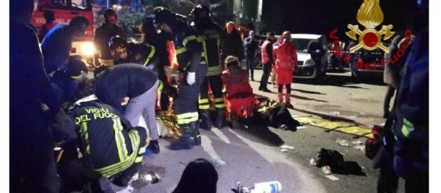 Tragica notte a Corinaldo, 6 morti e numerosi feriti